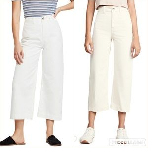 NWT Free People Patti Crop Pants in Ivory